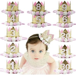 Wholesale baby girl princess crown headband for sale - Group buy Baby Girl Birthday Party Hats Kids Years Birthday Princess Crown Cap Party Decorations Kids Favors Headband