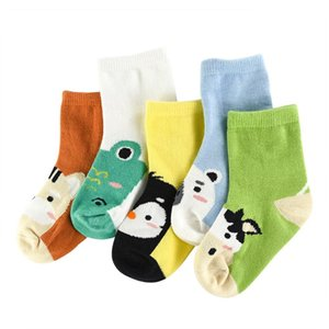 Wholesale 5Pair lot Soft Cotton Kids Socks Baby Mesh Breathable Cartoon Boys Girls Sock Autumn Winter for Children Gifts Toddler Clothes