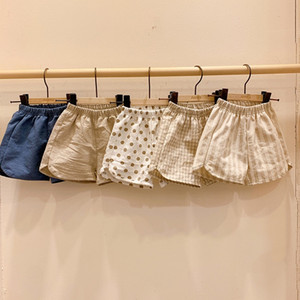 Wholesale natural colored cotton resale online - INS Summer Newest Quality INS Polka Dot Little Girls Shorts Stripes PP Pants Organic Cotton Casual Solid Blank Bloomers For Kids Girls