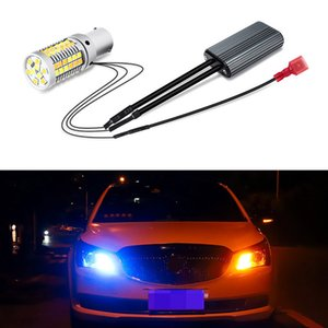 Wholesale 2PCS Car Turn Signal BA15S BAU15S P21W PY21W T20 LED External Daytime Running Light with White Yellow DRL Lamp