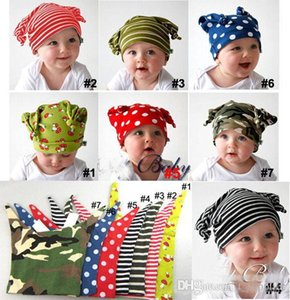 Wholesale baby elf hats resale online - European and American Hot TOPBOY little baby elf hat pattern stylaing stripes children cap a613