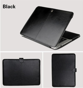 "PU Leather Case for Macbook Air 11 Air 13 Pro 13 Pro 15'' New Retina 12 13 15 Case Cover for Macbook 13.3""15.4"" 15.6""-Black"