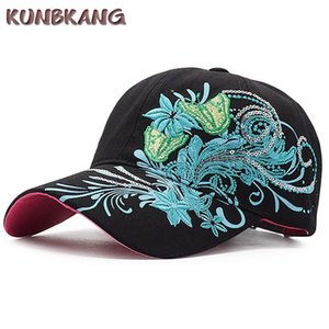 Women Fashion Flower Butterfly Baseball Cap Girls Embroidery Cotton Snapback Hat Bone Casquette Female Summer Casual Hip Hop Cap #220199