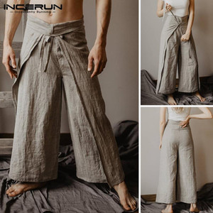 Wholesale massage pants for sale - Group buy New Thai Fisherman Pants Men Wraps Vintage Women Yoga pants Joggers Solid Baggy Wide Leg Massage Pants Trousers Men INCERUN