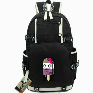 Wholesale Drop Dead backpack Ice cream day pack First pick band star school bag Computer packsack Quality rucksack Sport schoolbag Outdoor daypack