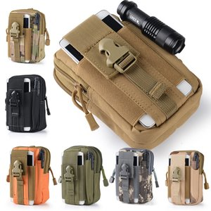 Wholesale Men Tactical Molle Pouch Belt Waist Pack Bag Small Pocket Military Waist Pack Running Pouch Travel Camping Bags Soft back