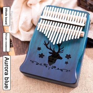 Wholesale piano keys for sale - Group buy 17 Keys Kalimba Sanza mbira Thumb Piano African rosewood Whole board Finger piano Bag Cega Keyboard Marimba Wood Musical Instrument