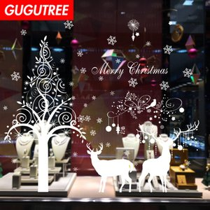 Decorate Home merry christmas new year art wall sticker decoration Decals mural painting Removable Decor Wallpaper G-1136 on Sale