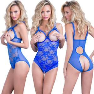 Lace Sexy Underwear Womens Fashion Lingerie Siamese Garter Pajamas Solid Color Garters Plus Size S-4XL