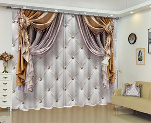 Wholesale Customized Chinese Modern Luxury D Blackout Window Curtain Drapes For Living room Bed room Hotel Wall Tapestry Cortinas