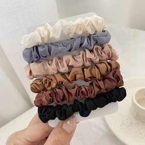 Wholesale Scrunchie Hairbands Hair Tie Women for Hair Accessories Satin Scrunchies Stretch Ponytail Holders Handmade Gift Heandband