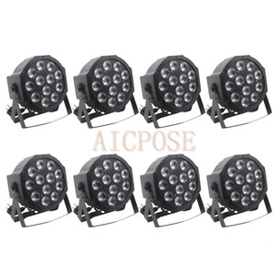Wholesale 8Pcs lots 12x12W RGBW 4 in 1 Led Par lights With dmx512 Stage Lighting Wedding DJ Party Effect Light