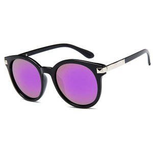 Wholesale sunglasses mercury for sale - Group buy New Retro Classic Multicolor Round Square Sunglasses Male Female Metal Frame Mercury Reflective Sunglasses Men s Brand Sunglasses Send Box