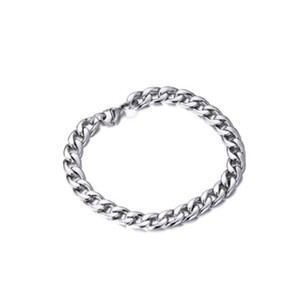 Wholesale Mens Hip Hop Chain Bracelets Stainless Steel NK Cuban Curb Link Bracelet cm cm Vintage Bangle for Men Women Jewelry Christmas Gift