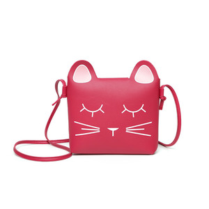 Wholesale Cute Cat Bag Children Shoulder Handbags 2019 South Korea Style Women Fashion Mobile Phone Cross body Bag for Teenage Girls Kids