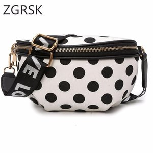 Wholesale Women Casual Chain Pu Leather Dot Fanny Pack For Waist Bags Bag Waterproof Lady Band Belt Shoulder Bag Purse Waistbag Fannypack