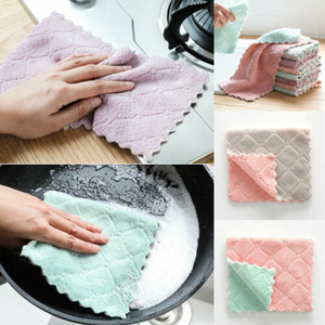 Wholesale Kitchen Thickened Towels Dish Cloths Cleaning Drying Water-absorbent