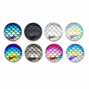Scale Silicone 18mm Acrylic Resin Uneven Resin Snap Button 038 Fit Charm Interchangeable Bracelets Jewelry For Women Findings