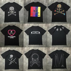 Wholesale Luxury European Mmj Short Sleeve Hot Drill Human Skeleton Head Printing Short Sleeve Men And Women Cotton T-shirt Hfwptx265