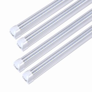 Wholesale T8 Integrated LED Tube W W W W W W Double Row V Shape Cooler Freezer LED Lamp Fluorescent Replace Light Bulb AC85 V