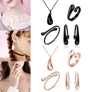 Wholesale 4pcs Necklace Earring Ring Bangle Set Simple Small Fresh Jewelry Gifts M23