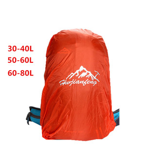 Wholesale 30L L backpack cover sport bag covers dust protection waterproof rain cover for outdoor camping hiking Climbing cycling