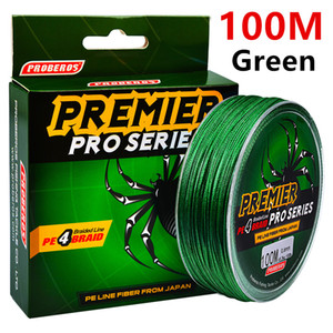 100Meters 1box Green Fishing Lines 4 Stands Braid Line Available 6LB-100LB(2.7KG-45.3KG) PE Line Pesca Fishing Tackle B14_2