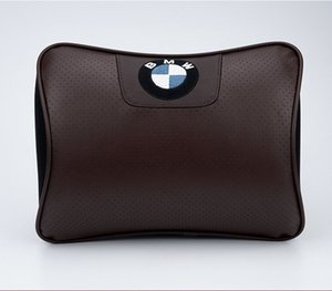 Wholesale BMW Car Headrest Neck Protection Relieve Driving Pressure Pillow Inside the Car Decoration Leather Designer Pillow