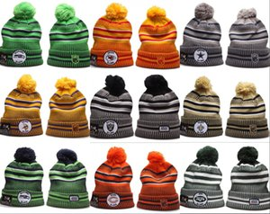 Wholesale Cheap top New bonnet Beanies Hats American Football teams Beanies Sports winter side line knit caps gorros Knitted Hats drop shippping
