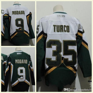 Wholesale 2018 Men s NHL Jersey MODANO Green TURCO White CCM Vintage Hockey Jerseys High Quality Sport Clothes Stitched