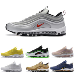 2019 New Max 97 OG BR Mens Running Shoes Air Women Yellow Blue Red Grey White Black Trainers Sports Outdoor 97s Designers Sneakers EUR36-45