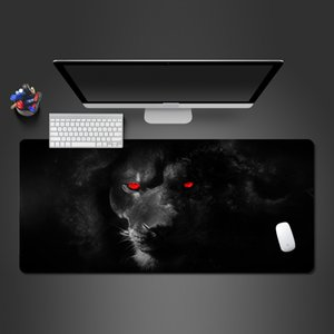 Wholesale Super Cool Red Eye Black Lion Mouse Pad High Quality Rubber Lock Large Mouse Pad Gamer s Game Accessories Computer Table Mat