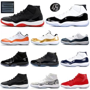 2019 Bred Concord 11 11s basketball shoes Cap and Gown Orange Trance Snakeskin Gamma Blue Emerald women mens trainers Sport Sneakers 5.5-13