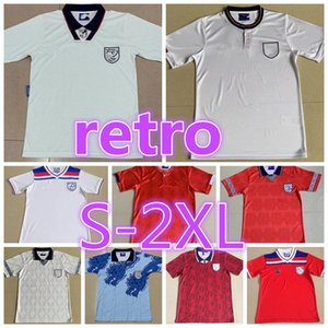 ingrosso calcio uk-Retro Soccer Jersey UK Shearer Beckham Camicia da calcio Gerrard Scholes Owen Heskey