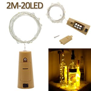 Wholesale 2m LED Mini Bottle Stopper Lamp String Bar Decoration String Light Colorful Light Earth Yellow