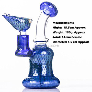 Wholesale little glass bongs resale online - 6 quot Dab Rig Especial Process peacock green and Leopard spots with same style bowl mm quartz banger glass water bong little bongs