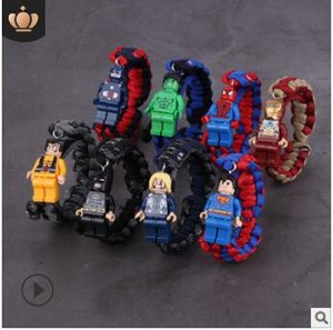 Lego building block weave cartoon movie character bracelets love students kids cheap bracelet gifts 2019 new 517