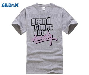 Wholesale Grand Theft Auto GTA VICE CITY T shirt cotton Lycra top Fashion Brand t shirt new DIY Style high quality