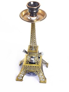 Wholesale Metal Eiffel Tower and glass bottle shisha glass hookah shisha with hose smoking accessories glass hookah