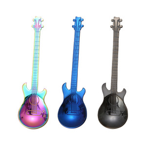 Stainless steel Guitar Bass spoon musical instruments coffee mixing spoons Home Kitchen Dining Flatware drop ship