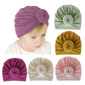 Wholesale Baby Turban Hats Turban Bun Knot Baby Infant Beanie Baby Girl Soft Cute Toddler Cap