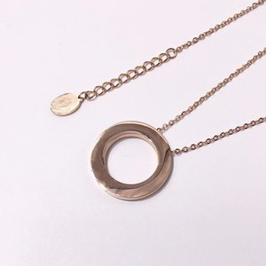 Wholesale love Hot Jewelry necklace stainless steel Beautiful Big Ring Screw love Necklace for women men gift