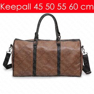 KEEPALL BANDOULIERE 60 55 50 45 cm Designer Fashion Women's Men's Travel Duffel Bag Luxury Tote Rolling Softsided Luggage Accessories M41414