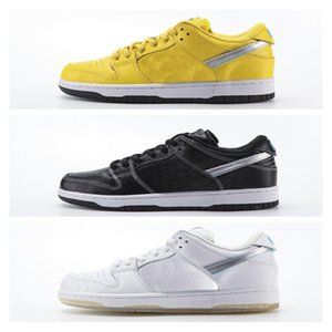 Wholesale Cheap Dunk SB Diamond Low Tiffany Shoes Supply Co Canary Yellow Black White Mens Women SKateboard Sneakers Size