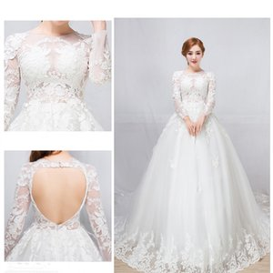 Sexy semitransparent wedding dresses printing tiered skirts backless print modern long tail wedding dress De Mariee Plus on Sale