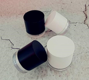 30g 50g plastic jar double wall with insert straight long neck mouth inside black white lid luxury custom cosmetic container jar 2019