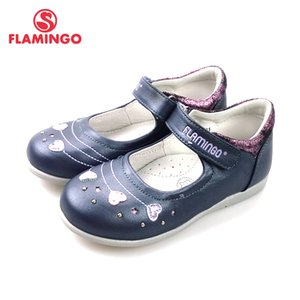 Wholesale FLAMINGO New Foot Arch design Spring Summer Hook Loop Outdoor Size school shoes for girl T XY