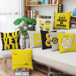 Wholesale decorate pillow covers resale online - Geometric pattern English letters pillow case styles home living room decorate pillowcase cm sofa cushion cover
