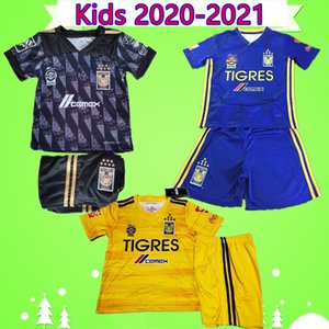 Wholesale children mexico soccer jerseys for sale - Group buy Kids Kit Star NAUL Tigres UANL Soccer Jersey boys sets Camiseta de futbol Mexico Liga MX children suits Football Shirt