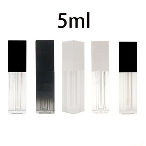 5ml Rectangle Frosted Plastic Empty Lip Gloss Tube Portable DIY Lip Balm Liquid Lipstick Container Dispenser Bottle Makeup Tool